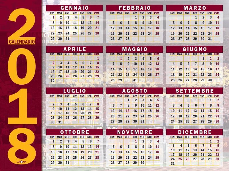 As Roma Calendario.Rivista La Roma Il Maxiposter Del Calendario Giallorosso