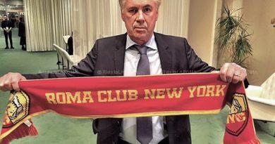 """Roma Club New York """"Forza Roma da una leggenda: Carlo Ancelotti"""""""